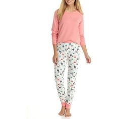 New Directions Llama Tunic Jogger Llama Pajama Set Satin Pyjama Set, Satin Pajamas, Pajama Set, Llama Pajamas, Cozy Pajamas, Pjs, Womens Fashion Online, Latest Fashion For Women, Tartan Pants