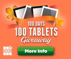 Sweepstakes 100 Tablets Giveaway