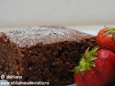 Negresa, reteta simpla rapida si ieftina Torte Cake, Cupcakes, Brownies, Recipies, Good Food, Dessert Recipes, Food And Drink, Cooking Recipes, Pudding