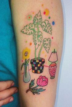 Charline Bataille tattoo love the idea of a tattoo still life Dainty Tattoos, Pretty Tattoos, Mini Tattoos, Small Tattoos, Cool Tattoos, Tatoos, 16 Tattoo, Poke Tattoo, Tattoo Ink