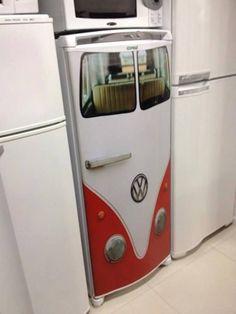 Leuke koelkast deur.