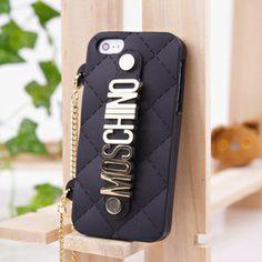 Moschino Hand Bag Chain Silicone Case