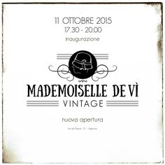 Support @MademDeVi #vintage #vigevano #inauguration #vernissage #openday #cocktailparty #MademoiselleDevì