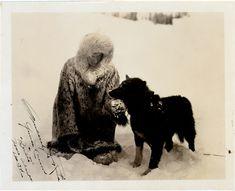 Balto and his musher, Gunnar Kaasen, after saving the town of Nome, Alaska (1925)