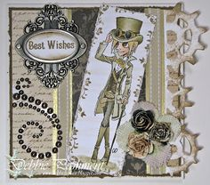 Tickled Pink Stamps, Steampunk Luca, by Debbie P's Place Blog