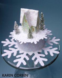 Karin Corbin Miniatures: decorated tea light
