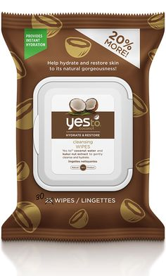 Yes To Coconut Cleansing Wipes are an all-in-one wipe that cleanses and moisturizes from head-to-toe. These wipes are perfect for dry skin types looking for intense moisturization and instant hydration. Yes To Products, Beauty Products, Face Products, Facial Cleanser, Moisturizer, Claudia Rodriguez, Hibiscus Sabdariffa, Coco Nucifera, Makeup Wipes