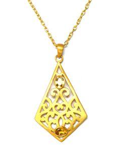 Filigree Peridot Necklace