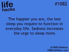 That's why I sleep thru the sadness hack