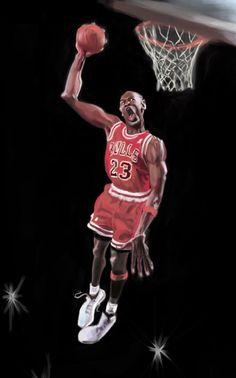 [ Michael Jordan ] - artist: Douglas Stout - website: http://douglaskstout.blogspot.com/
