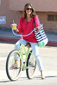 Alessandra Ambrosio  #cyclingcelebrities #celebrities #cycling
