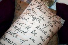 Hettys handwritten pillow cover http://modewaerts.wordpress.com/2013/06/17/handwritten-pillow-cover/