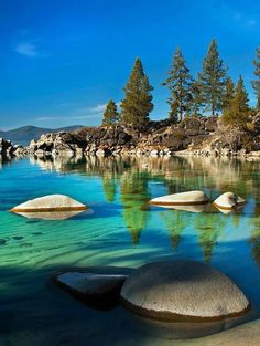 Sand Harbour in Lake Tahoe, Nevada, United States.