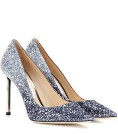 f53d9dcff11c JIMMY CHOO Romy 100 Glitter Pumps.  jimmychoo  shoes  pumps Silver Glitter  Pumps