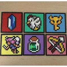 The Legend of Zelda coaster set perler beads by Beads by Geeks