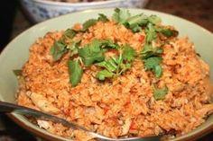 "Panamanian Dish: ""Arroz con Pollo"" (chicken rice with saffron)"