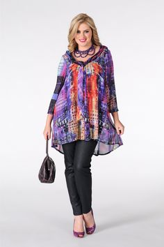 Tunic draping CITY - Yoek Plus size fashion Grote maten mode winter 13/14