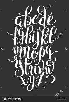 black and white hand lettering alphabet design, handwritten brush script modern calligraphy cursive font vector illustration Calligraphy Fonts Alphabet, Handwriting Alphabet, Hand Lettering Alphabet, Cursive Letters, Modern Calligraphy, Brush Letter Alphabet, Alphabet Design, Fonte Alphabet, Alphabet Images