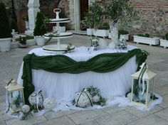 me thema tin elia Greek Wedding, Diy Wedding, Wedding Cakes, Mediterranean Decor, Wedding Decorations, Table Decorations, Candy Table, Ideas Para, Shabby Chic