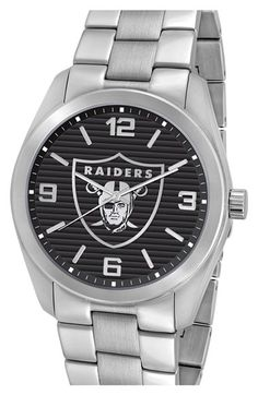 Men's Game Time Watches 'NFL Elite - Oakland Raiders' Bracelet Watch