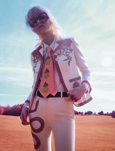 Marjan Jonkman models Gucci for Vogue Italia January 2016 by Sølve Sundsbø [fashion]