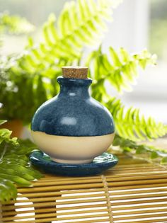 Aromatherapy Diffuser - Partially Glazed Clay | Gardener's Supply