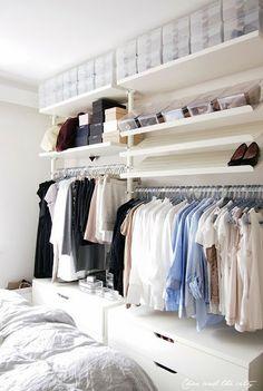 El sistema Stolmen es uno de lo más recurridos a la hora de configurar un vestidor abierto