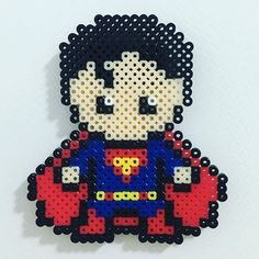 Superman perler beads by hexinyu719