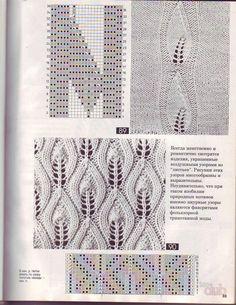 узор рельефные листья спицами схема и описание: 14 тыс изображений найдено в Яндекс.Картинках
