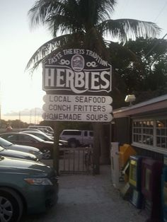An old favorite, Herbie's in the Florida Keys. My mom was a waitress there and my aunt a cook. Florida Keys Vacation Rentals, Key West Vacations, Florida Travel, Vacation Trips, Vacation Spots, Travel Usa, Key West Florida, Miami Florida, Florida Beaches
