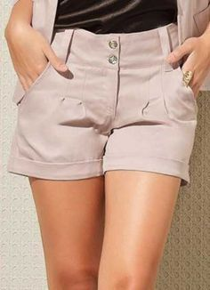 55 Woman Shorts To Rock This Winter - Fashion Trends - Shorts Outfits Women, Short Outfits, Casual Outfits, Fashion Outfits, Fashion Trends, Hot Pants, High Waisted Shorts, Casual Shorts, Mode Shorts
