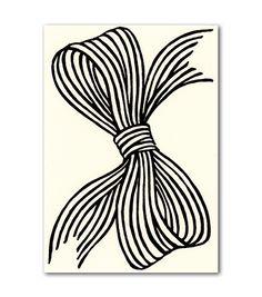 beau ideal black bow card