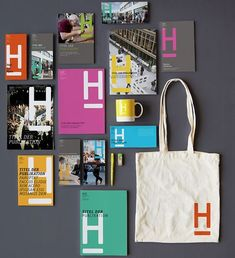 New logo and identity for Hochschule Hannover by Anne Andrea - identity/branding - Design City Branding, Corporate Identity Design, Brand Identity Design, Graphic Design Branding, Graphic Design Posters, Stationery Design, Identity Branding, Visual Identity, Brochure Design