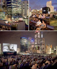 Rooftop Cinema, Melbourne, Australia Melbourne Victoria, Victoria Australia, Melbourne Australia, Australia Travel, Freedom Travel, Round The World Trip, Outdoor Cinema, Rooftop Bar, Countries Of The World