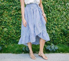 Ruffled Hem DIY Wrap Skirt   Sew this gorgeous skirt for a fresh summer look!