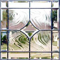 CONCAVE3 custom leaded glass bevel window