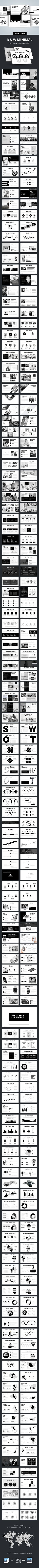 #B&W Elegant #Powerpoint Templates - Business PowerPoint Templates