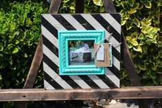 4x4 Distressed Picture Frame Black / Linen by ShirleyFrames, $35.00