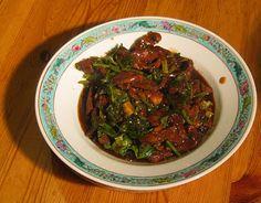 Schweinefleisch mit Koriander - Chinese pork with cilantro
