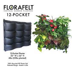 I'd like this for my fence.  Florafelt 12-pocket Vertical Garden Planter