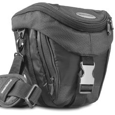 Mantona Colt Neolit Kameratasche für SLR und Systemkamera (Universaltasche inkl. Schnellzugriff, Staubschutz, Tragegurt und Zubehörfach) schwarz/metallic - http://kameras-kaufen.de/mantona/schwarz-metallic-mantona-colt-slr-kameratasche