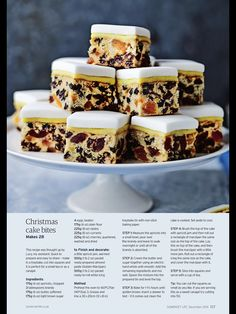 Christmas Cake Bites Mary Berry Christmas Cake, Mini Christmas Cakes, Xmas Cakes, Xmas Food, Christmas Cooking, Christmas Desserts, Christmas Treats, British Bake Off Recipes, Baking Recipes