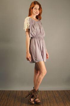 lace back dress Adella Apparel