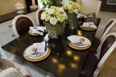 Dining Room Table Staging