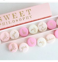 """10 Likes, 1 Comments - The Wedding Wonder Show (@weddingwondershow) on Instagram: """"Love these from @sweet.philosophy #bride #bridesmaid #macarons #sweet #pretty #pink…"""""""