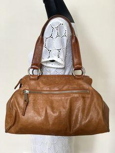 ec1932d12 Hobo International Brown Leather Hobo Satchel Shoulder Bag Purse