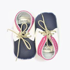 Navy Susu Lace Up Shoe Making Kit by First Baby Shoes | Romper Stomper Kids
