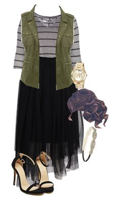 """Apostolic Fashions #1810"" by apostolicfashions on Polyvore featuring MSGM, LE3NO, Michael Kors and Forever 21"