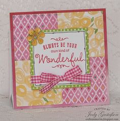 card by Jody Gustafson using CTMH Brushed paper