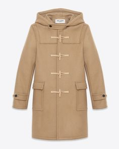 Saint Laurent Classic Duffle Coat In Camel Wool | ysl.com
